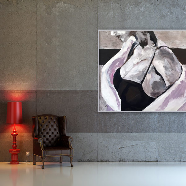 a modern 3d interior composition