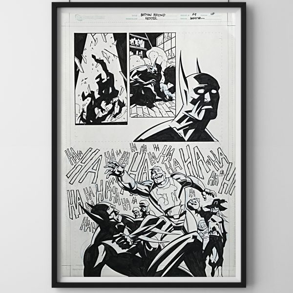 black frames on white wall