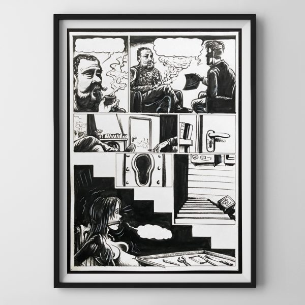 black frames on white wall