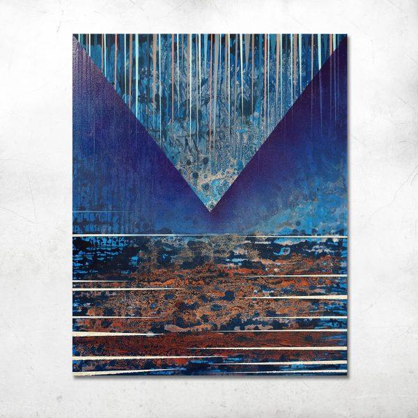 Jacek Jarczewski struktury niebieskie 1 - 100 x 80 cm - 2017