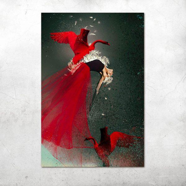 Red Swan Katarzyna Wieczorek ARTEsklep