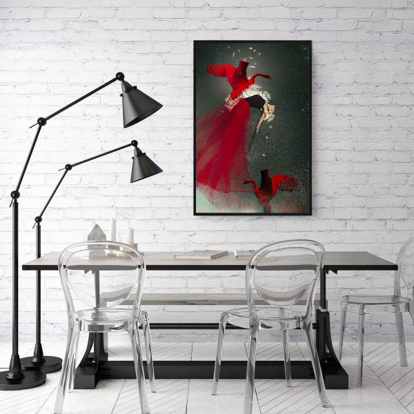 Red Swan Katarzyna Wieczorek ARTEsklep wnetrze