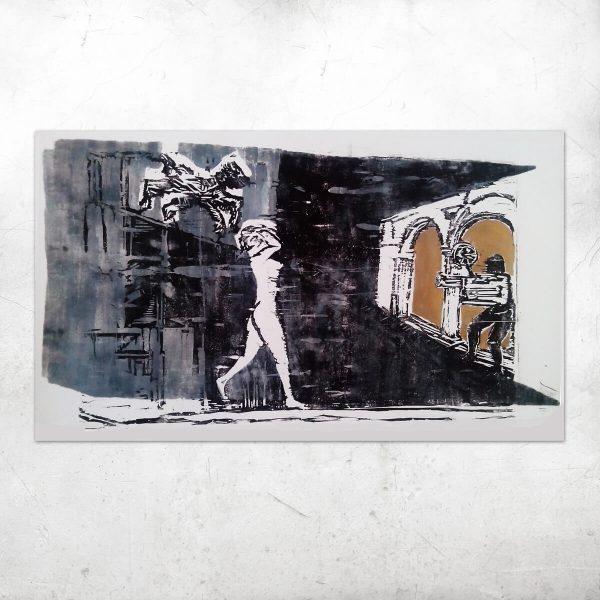 Jacek_Zieba-Necek_Nefretete_100x53cm_drzeworyt_szablon_2017 artesklep