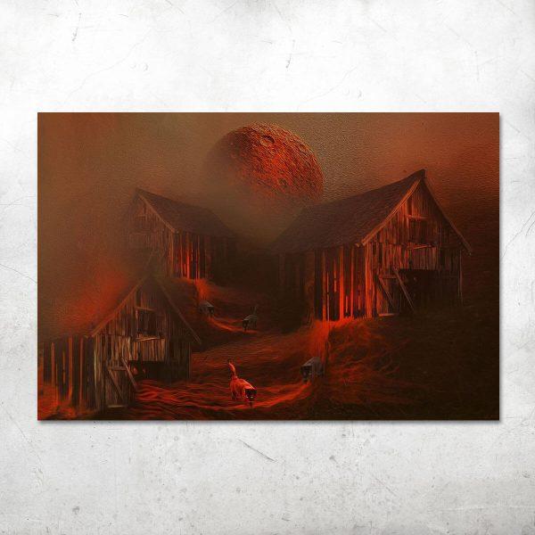 Red moon Katarzyna Wieczorek ARTEsklep