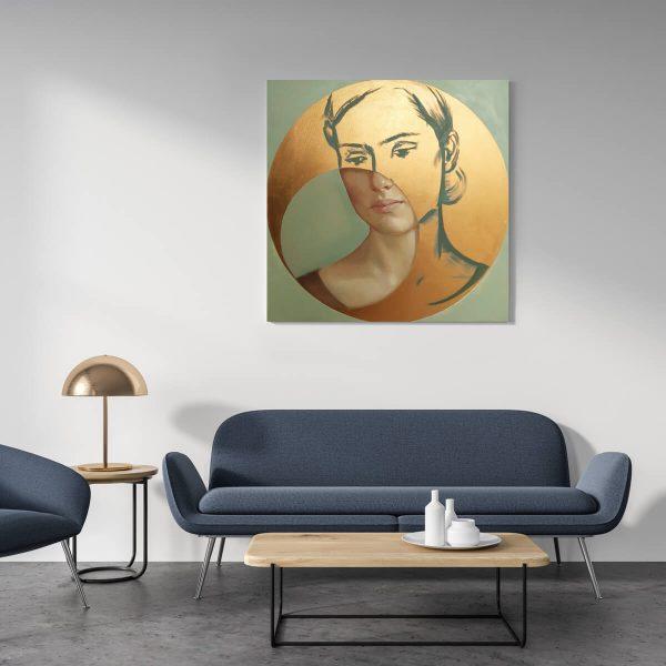 Złoty portret_artesklep_wnetrze